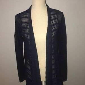 dark blue light cardigan